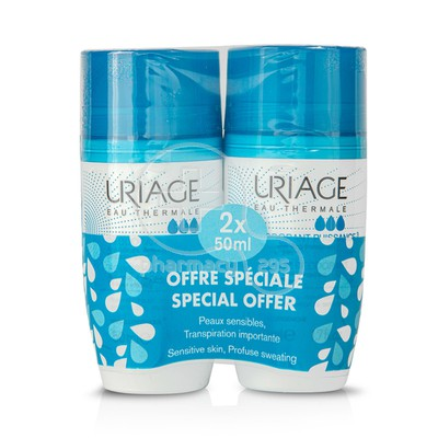 URIAGE PROMO PACK 2 TEMAXIA Deodorant  Puissance3 24h roll on - 50ml  με 50% στο 2ο προϊόν