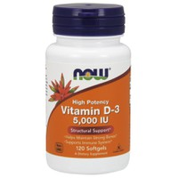 NOW VITAMIN D-3 5000 IU  120SOFTGELS
