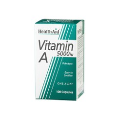 Health Aid Vitamin A 5000iu 100 κάψουλες