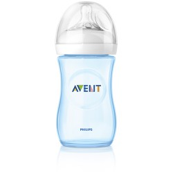 Philips Avent Bottle With Silicon Teat  1m+ 260ml - Blue