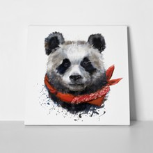 Panda with red scarf 789419470 a