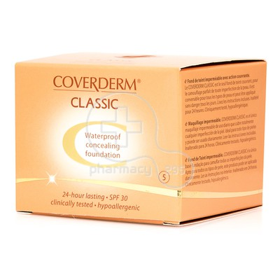 COVERDERM - CLASSIC Waterproof Concealing Foundation SPF30 (No5) - 15ml
