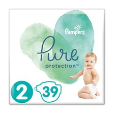 Pampers Pure Protection No 2 (4-8kg) 39Τμχ.