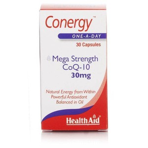 Health aid conergy mega strength coq 10 30mg  30 capsules