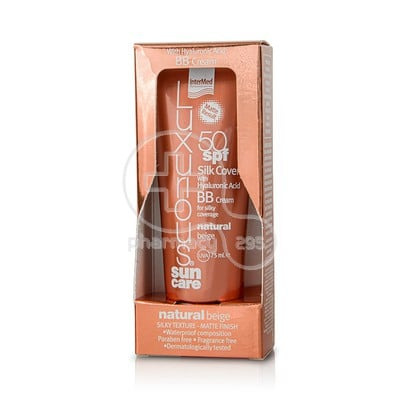 INTERMED - LUXURIOUS SUN CARE Silk Cover BB Cream SPF50 Natural Beige with Hyaluronic Acid - 75ml