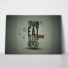 Train eat sleep repeat a