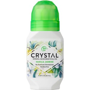 Crystal essence mineral deodorant roll on vanilla jasmine 66 ml