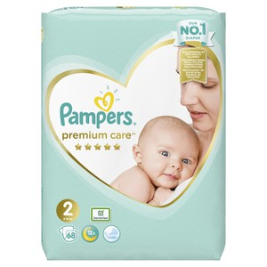 PAMPERS Premium care N2 4-8kg 68τεμάχια