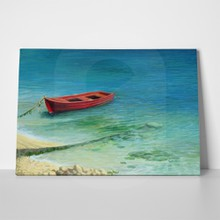 Red fishing boat a