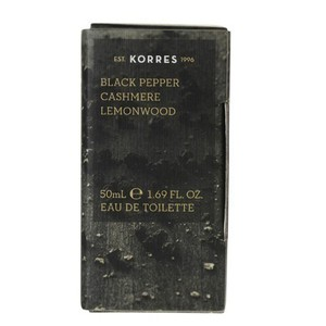 Korres eau de toilette black pepper   cashmere   lemonwood 50ml