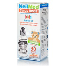 NeilMed Sinus Rinse Kids Starter Kit, 30 premixed packets & Bottle 120ml