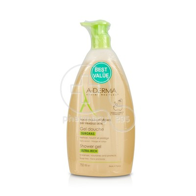 A-DERMA - GEL DOUCHE SURGRAS Ultra-rich Shower Gel - 750ml