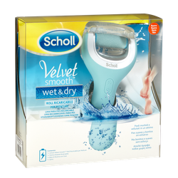 Scholl Velvet Smooth Wet & Dry Rechargeable Electric Foot File 1piece