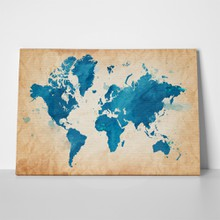 Blue watercolor textured map 251862559 a