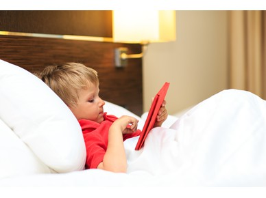 Children who use touchscreens the most sleep less at night!