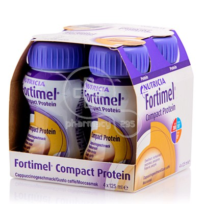 FORTIMEL - Compact με γεύση Μόκα 4x125gr (Συσκευασία 4 τεμαχίων )