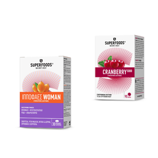 Superfoods PROMO PACK Ιπποφαές Woman Συμπλήρωμα Διατροφής 30 Caps & Cranberry 5000 Συμπλήρωμα Διατροφής 90 Δισκία.