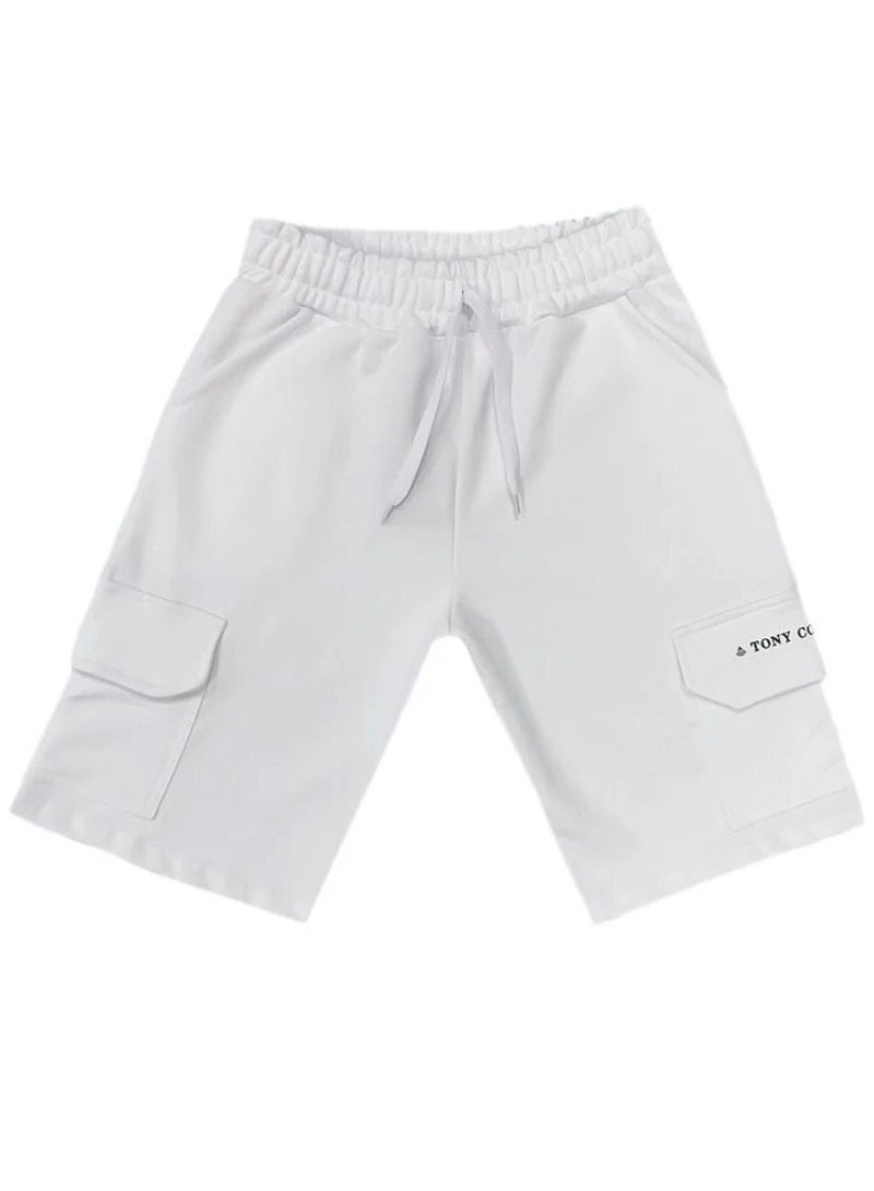 TONY COUPER WHITE TS POCKET SHORTS