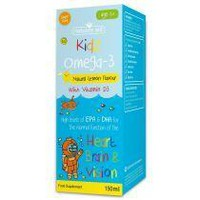 NATURES AID KIDZ OMEGA-3 WITH VITAMIN D 3(6-12 YEARS) 150ML