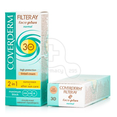 COVERDERM - FILTERAY Face Plus Normal Tinted Cream SPF30 (Soft Brown) - 50ml