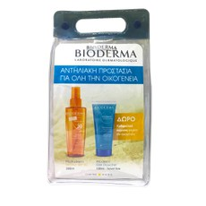 Bioderma PROMO PACK Photoderm Bronz Huile Seche SPF30 Dry Oil 200ml & ΔΩΡΟ Atoderm Ultra-Douceur Shower Gel 100ml - Travel Size.