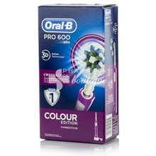 Oral-B Pro 600 3D CROSS ACTION - Ροζ, 1τμχ.