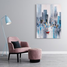 Manhattan bay oil painting