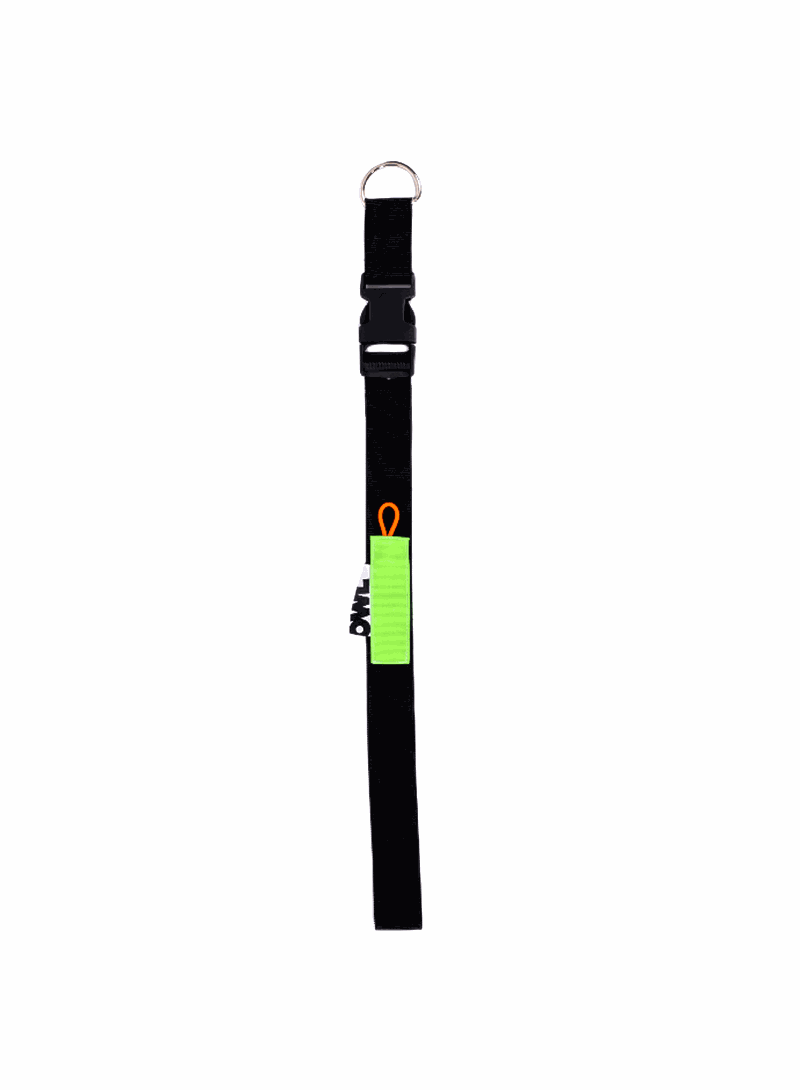 OWL CLOTHES LANYARD BLACK GREEN