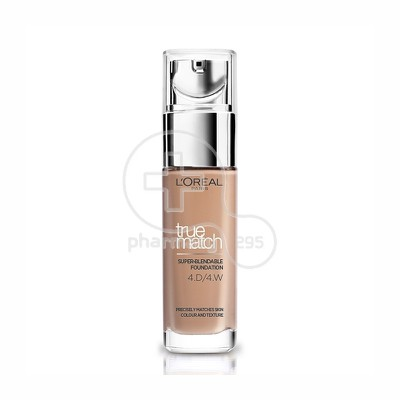 L'OREAL PARIS - TRUE MATCH Super Blendable Foundation No4D4W (Golden Natural / Nat Dore) - 30ml