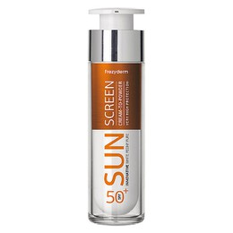Frezyderm Sun Screen Cream to Powder Vitamin D Like SPF50+, Αντηλιακή Κρέμα Προσώπου 50ml