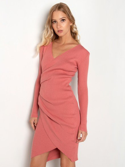 Knit wrap dress