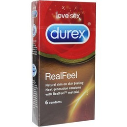 Durex Real Feel  Φυσική Αίσθηση  6 Προφυλακτικά