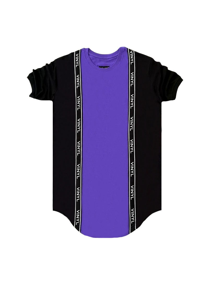 VINYL ART CLOTHING PURPLE CORE DOUBLE RIBBON T-SHIRT