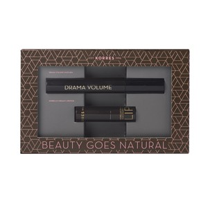 KORRES Σετ Mascara Drama Black & Morello Lipstick N23 natural purple