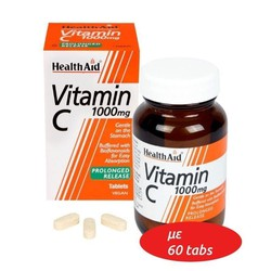 Health Aid Vitamin C 1000mg with Bioflavonoids 60ταμπλέτες
