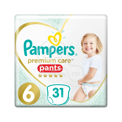 PAMPERS - PREMIUM CARE Pants No6 (15+kg) - 31 πάνες