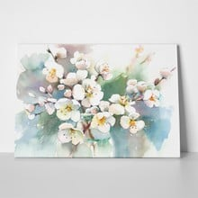 Cherry blossson hand painting watercolor 236239189 a