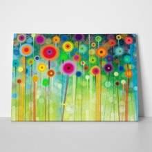 Handpainted abstract flowers a
