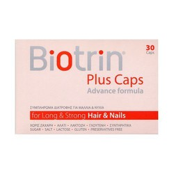 Biotrin Plus Advance Formula Food Supplement For Strong Hair & Nails 30caps
