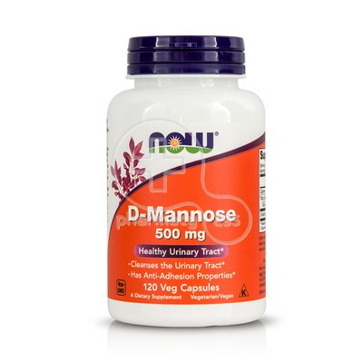 NOW - D-Mannose 500mg - 120caps