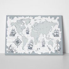 Vintage nautical map with sailing ships 641714206 a