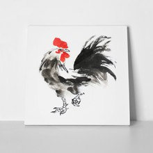 Chinese ink painting illustration rooster 463816550 a