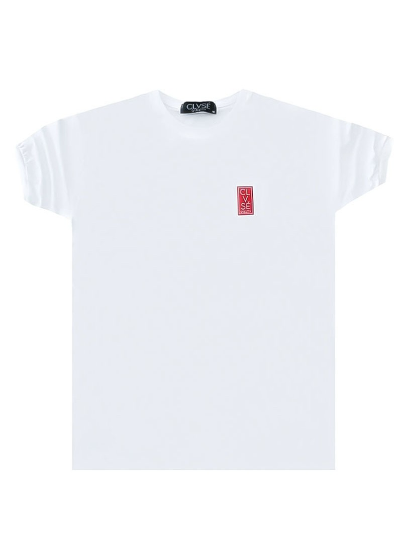 CLVSE SOCIETY WHITE RED PATCH