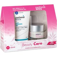 Medisei Panthenol Extra Set Beauty Care Day Cream SPF15 50ml & Face Cleansing Gel 150ml