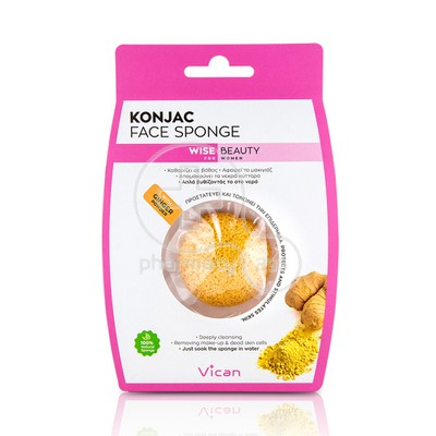 VICAN -  WISE BEAUTY Konjac Face Sponge with Ginger Powder - 1τεμ.