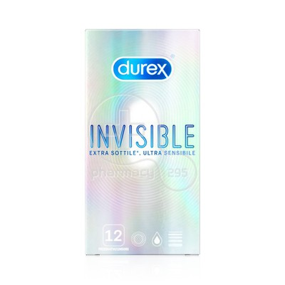 DUREX - Προφυλακτικά Invisible Extra Thin -12τμχ