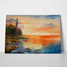Original oil painting burning sunset over 461373724 a