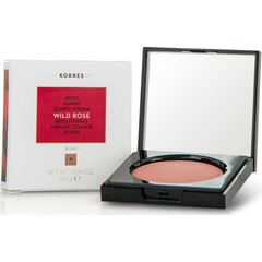Korres Wild Rose Brightening Vibrant Colour Blush 31 Light Bronze - Ρουζ Άγριο Τριαντάφυλλο, 5.5g