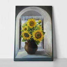 Sunflower window frontr