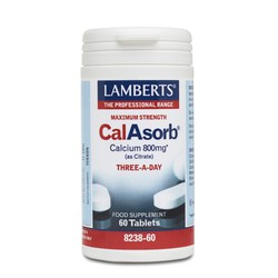 Lamberts CalAsorb - Calcium 800mg (As Citrate) 60 tabs